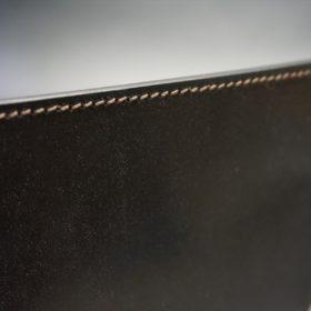 セドウィック社製ブライドルレザーのチョコ色のA6判手帳カバー(15mm用)-1-4