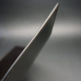 セドウィック社製ブライドルレザーのチョコ色のA6判手帳カバー(15mm用)-1-5
