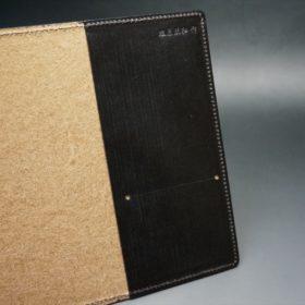 セドウィック社製ブライドルレザーのチョコ色のA6判手帳カバー(15mm用)-1-7