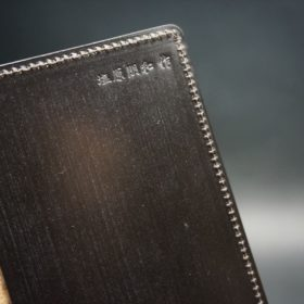 セドウィック社製ブライドルレザーのチョコ色のA6判手帳カバー(15mm用)-1-8