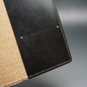 セドウィック社製ブライドルレザーのチョコ色のA6判手帳カバー(15mm用)-1-9