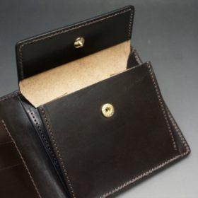 セドウィック社製ブライドルレザーのチョコ色の二つ折り財布(ゴールド色)-1-10