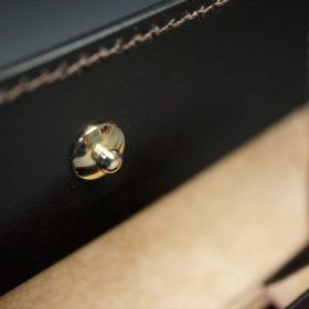 セドウィック社製ブライドルレザーのチョコ色の二つ折り財布(ゴールド色)-1-12