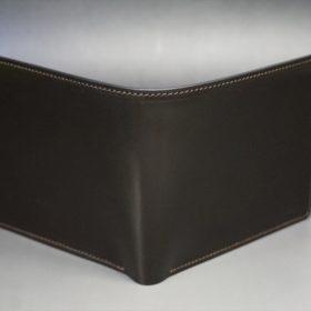 セドウィック社製ブライドルレザーのチョコ色の二つ折り財布(ゴールド色)-1-2