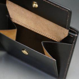 セドウィック社製ブライドルレザーのチョコ色の二つ折り財布(ゴールド色)-1-9