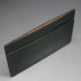 セドウィック社製ブライドルレザーのダークグリーン色のカードケース-1-6