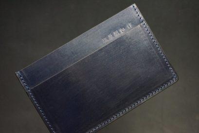 セドウィック社製ブライドルレザーのネイビー色のカードケース-1-1