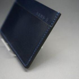 セドウィック社製ブライドルレザーのネイビー色のカードケース-1-3