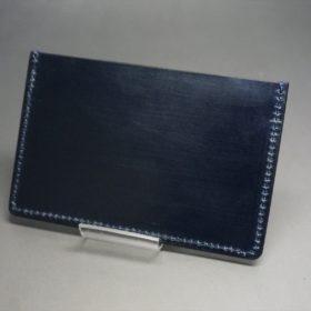 セドウィック社製ブライドルレザーのネイビー色のカードケース-1-4