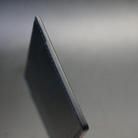 セドウィック社製ブライドルレザーのネイビー色のカードケース-1-5