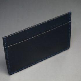 セドウィック社製ブライドルレザーのネイビー色のカードケース-1-6
