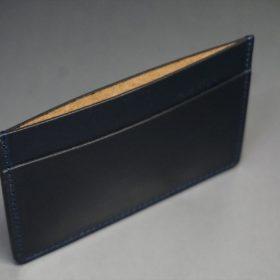 セドウィック社製ブライドルレザーのネイビー色のカードケース-1-7