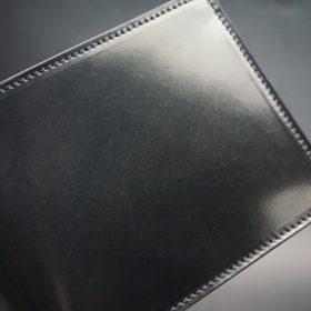ホーウィン社製シェルコードバンのブラック色の二つ折り財布(ゴールド色)-1-4
