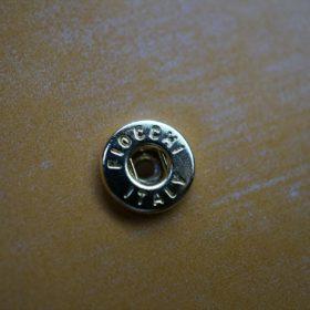 ホーウィン社製シェルコードバンのバーボン色の二つ折り財布(ゴールド色)-2-12