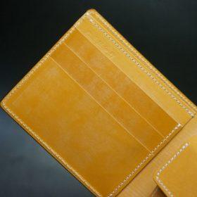 ホーウィン社製シェルコードバンのバーボン色の二つ折り財布(ゴールド色)-2-8