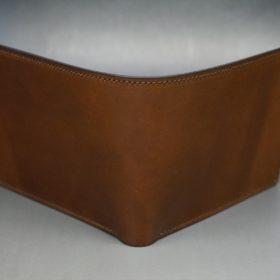 ホーウィン社製シェルコードバンのバーボン色の二つ折り財布(ゴールド色)-3-2