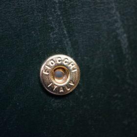 ホーウィン社製シェルコードバンのグリーン色の二つ折り財布(ゴールド色)-1-13