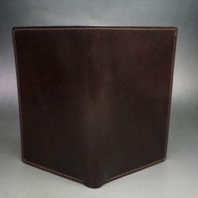 ホーウィン社製シェルコードバンの#8色の縦長二つ折り財布(ゴールド色)-1-2