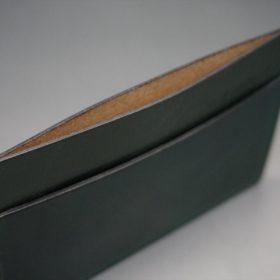 ホーウィン社製シェルコードバンのグリーン色のカードケース-1-7