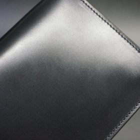 ロカド社製オイル仕上げコードバンのブラック色のスタンダード長財布(ゴールド色)-1-7
