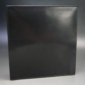 ロカド社製オイル仕上げコードバンのブラック色のスタンダード長財布(ゴールド色)-1-8