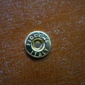 ロカド社製シェルコードバンのブラウン色の二つ折り財布(ゴールド色)-1-10