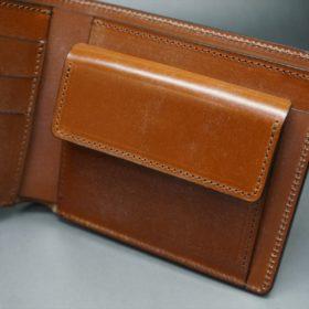 ロカド社製シェルコードバンのブラウン色の二つ折り財布(ゴールド色)-1-7