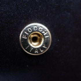 ロカド社製オイル仕上げコードバンのダークバーガンディ色の二つ折り財布(ゴールド色)-1-11