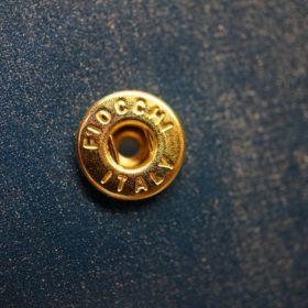 ロカド社製シェルコードバンのネイビー色の二つ折り財布(ゴールド色)-1-11