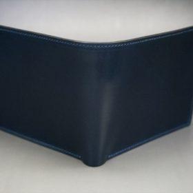 ロカド社製シェルコードバンのネイビー色の二つ折り財布(ゴールド色)-1-2