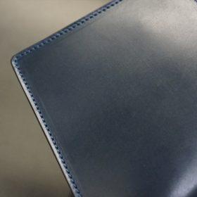ロカド社製シェルコードバンのネイビー色の二つ折り財布(ゴールド色)-1-3
