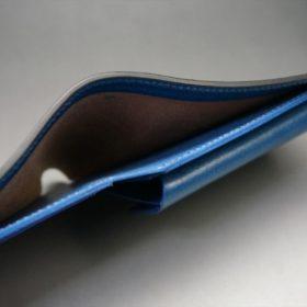 ロカド社製シェルコードバンのネイビー色の二つ折り財布(ゴールド色)-1-5