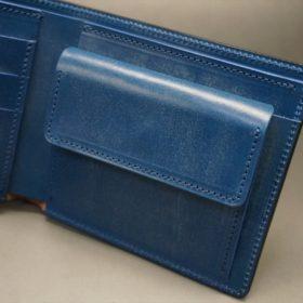 ロカド社製シェルコードバンのネイビー色の二つ折り財布(ゴールド色)-1-8