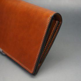 新喜皮革社製オイル仕上げコードバンのアンティーク色のスタンダード長財布(ゴールド色)-1-3