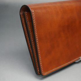 新喜皮革社製オイル仕上げコードバンのアンティーク色のスタンダード長財布(ゴールド色)-1-4