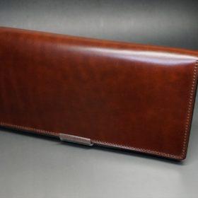 新喜皮革社製オイル仕上げコードバンのアンティーク色のスタンダード長財布(ゴールド色)-1-5