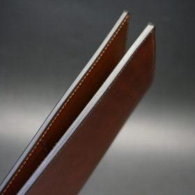 新喜皮革社製オイル仕上げコードバンのアンティーク色のスタンダード長財布(ゴールド色)-1-6