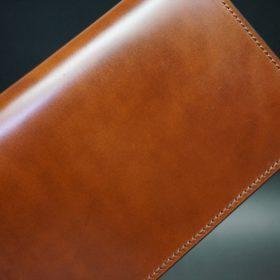 新喜皮革社製オイル仕上げコードバンのアンティーク色のスタンダード長財布(ゴールド色)-1-7