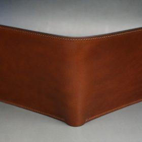 新喜皮革社製オイル仕上げコードバンのアンティーク色の二つ折り財布(ゴールド色)-1-2