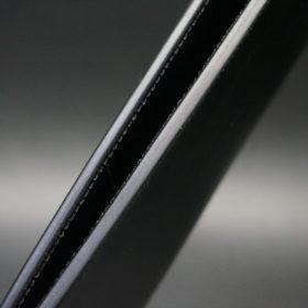 新喜皮革社製オイルコードバンのブラック色のスタンダード長財布(シルバー色)-1-6