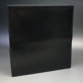 新喜皮革社製オイルコードバンのブラック色のスタンダード長財布(シルバー色)-1-7