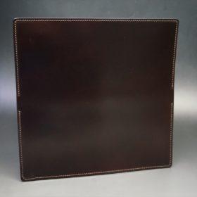 新喜皮革社製オイルコードバンのバーガンディ色のスタンダード長財布(小銭入れなしタイプ)-1-6