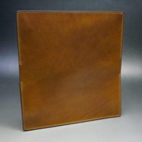 新喜皮革社製オイルコードバンのコーヒーブラウン色のスタンダード長財布(ゴールド色)-1-7