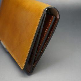 新喜皮革社製オイルコードバンのコニャック色のスタンダード長財布(シルバー色)-1-3