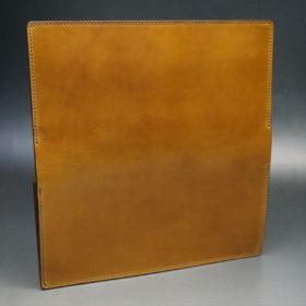 新喜皮革社製オイルコードバンのコニャック色のスタンダード長財布(シルバー色)-1-7