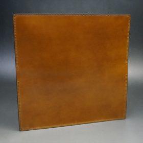 新喜皮革社製オイルコードバンのコニャック色のスタンダード長財布(小銭入れなしタイプ)-1-7