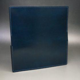 新喜皮革社製オイルコードバンのネイビー色のスタンダード長財布(ゴールド色)-1-6