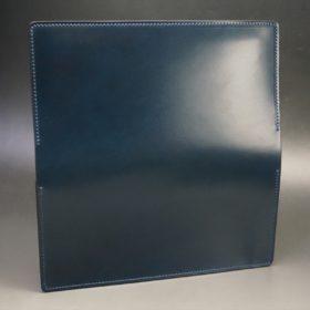 新喜皮革社製オイルコードバンのネイビー色のスタンダード長財布(シルバー色)-1-6
