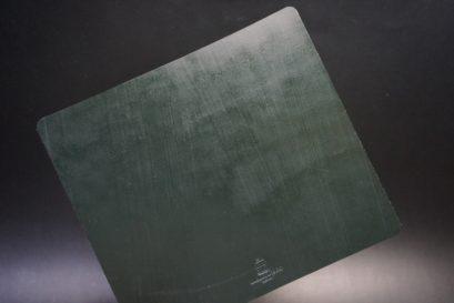 クレイトン社製ブライドルレザーのグリーン色のマウスパッド-1-1