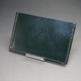 クレイトン社製ブライドルレザーのグリーン色のカードケース-1-4
